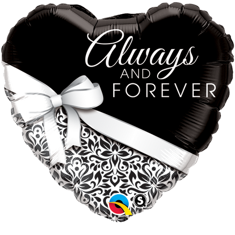"18"" Heart Foil Always And Forever #17084 - Each (Pkgd.)"