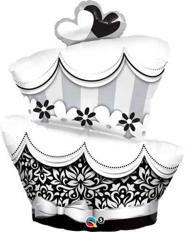 "41"" Shape Foil Fun & Fabulous Wedding Cake SW #17096 - Each (Pkgd.)"