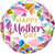 "18"" Rnd Foil Mother's Day Colourful Gems #17533 - Each (Pkgd.)"
