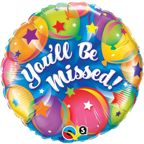 "18"" Round Foil You'll Be Missed Balloons #18419 - Each (Pkgd.)"