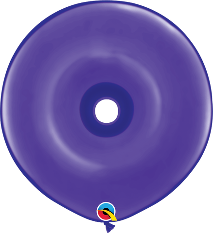 "16"" Donut Purple Violet Qualatex Plain Latex Donut #18622 - Pack of 25"