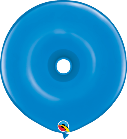 "16"" Donut Dark Blue Qualatex Plain Latex Donut #18624 - Pack of 25"