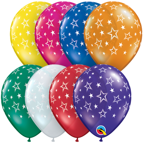 "05"" Round Jewel Assorted Star Patterns-A-Round #18703 - Pack of 100"