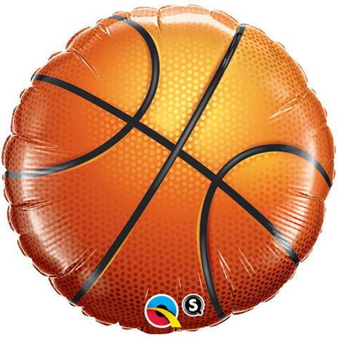 "18"" Round Foil Basketball #21812 - Each (Pkgd.)"
