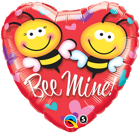 "18"" Heart Foil Bee Mine! #21837 - Each (Pkgd.)"