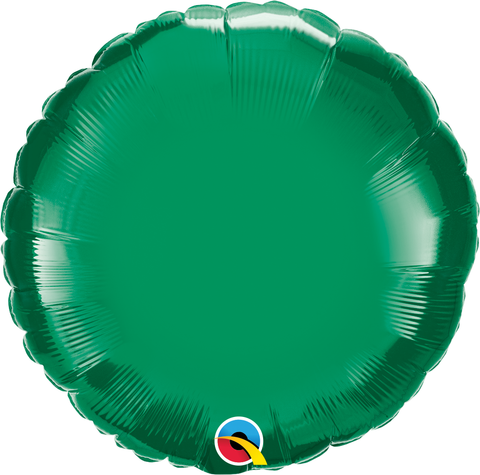 "18"" Round Emerald Green Plain Foil #22633 - Each (Unpkgd.)"