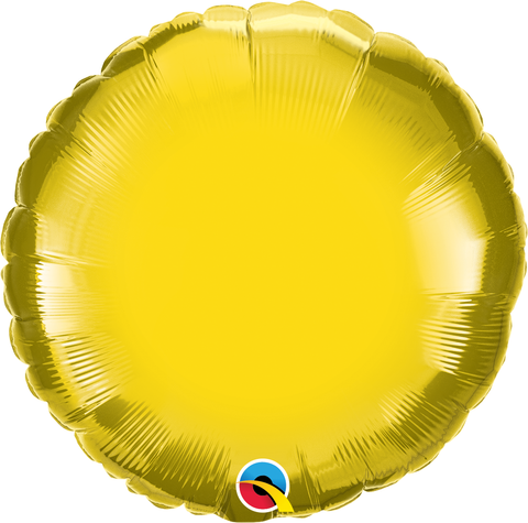 "18"" Round Citrine Yellow Plain Foil #22637 - Each (Unpkgd.)"