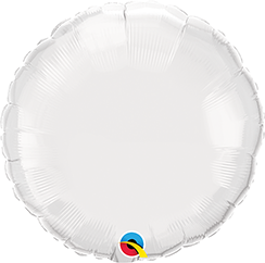 "18"" Round White Plain Foil #12921 - Each (Unpkgd.)"