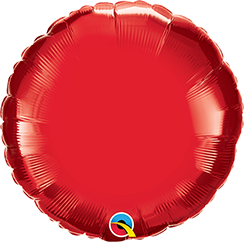 "04"" Round Ruby Red Plain Foil #22833 - Each (Unpkgd.)"