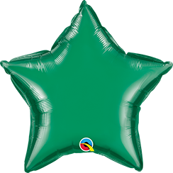 "04"" Star Emerald Green Plain Foil #22850 - Each (Unpkgd.)"