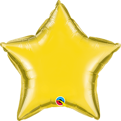 "04"" Star Citrine Yellow Plain Foil #22882 - Each (Unpkgd.)"