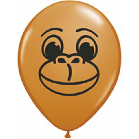 "05"" Round Mocha Brown Monkey Face #22905 - Pack of 100"