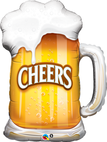 "35"" Shape Foil Cheers! Beer Mug #23488  - Each (SW Pkgd.)"