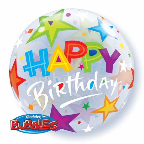 "22"" Single Bubble Birthday Brilliant Stars #23595 - Each"