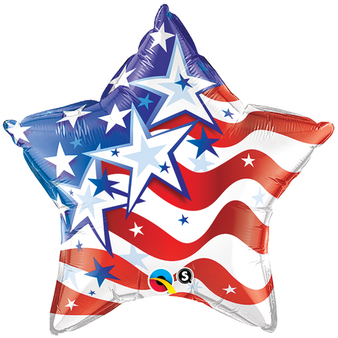 "20"" Star Foil Stars & Stripes Forever #23795 - Each (Pkgd.)"