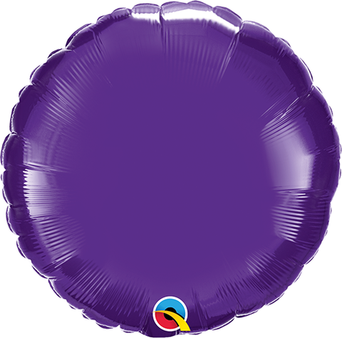 "18"" Round Quartz Purple Plain Foil #12922 - Each (Unpkgd.)"