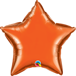 "20"" Star Foil Orange Plain Foil #86966 - Each (Unpkgd.)"