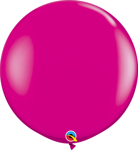 3ft Round Wild Berry Qualatex Plain Latex #25587 - Pack of 2