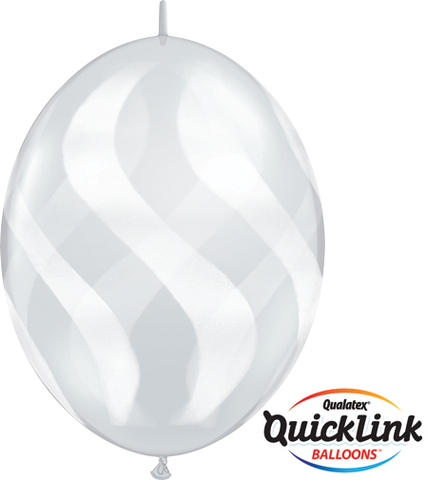 "12"" Quick Link Diamond Clear Wavy Stripes/Wht #28071 - Pack Of 50"