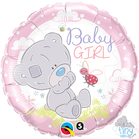 "18"" Round Foil Tiny Tatty Teddy Baby Girl #28170 - Each (Pkgd.)"