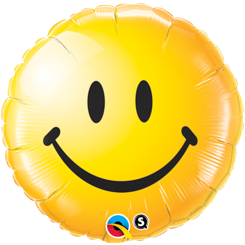 "18"" Round Foil Smiley Face Yellow #29632 - Each (Pkgd.)"