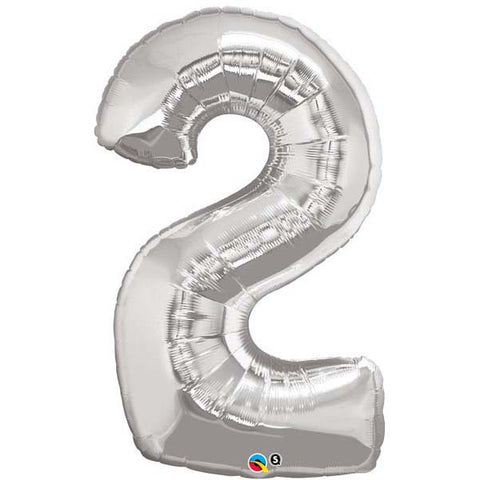 "43"" Number Foil Number Two Silver #30404 - Each (Pkgd.)"