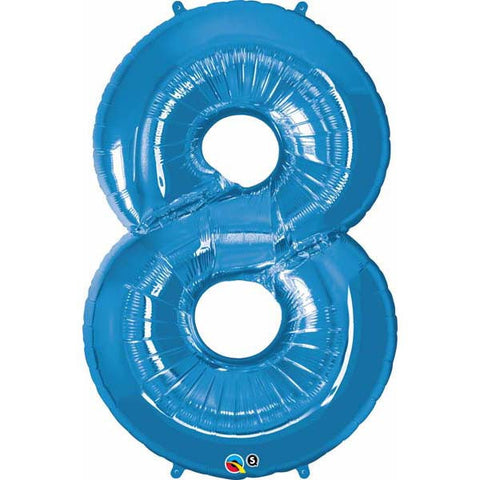 "42"" Number Foil Number Eight Sapphire Blue #30543 - Each (Pkgd.)"