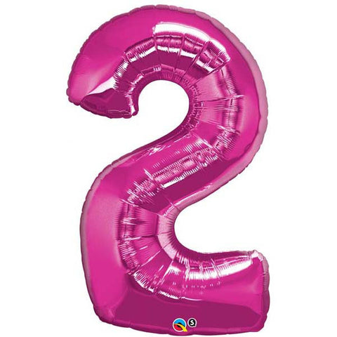 "43"" Number Foil Number Two Magenta #30559 - Each (Pkgd.)"