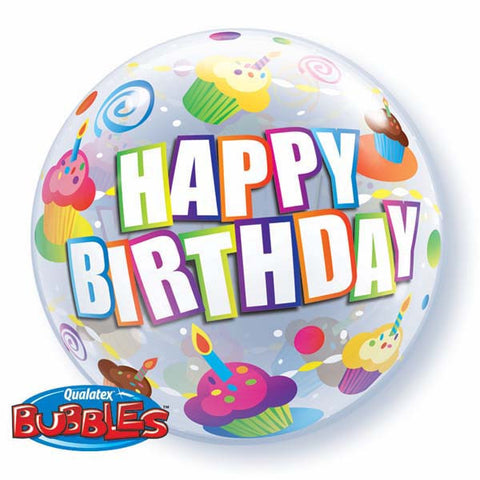 "22"" Single Bubble Birthday Colorful Cupcakes #30799 - Each"
