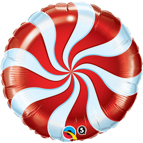 "18"" Round Candy Swirl Red #64329 - Each (Pkgd.)"