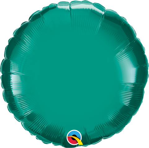 "18"" Round Teal Plain Foil #32554 - Each (Unpkgd.)"