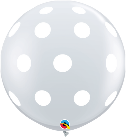 3ft Round Diamond Clear Big Polka Dots-A-Round #33376 - Pack of 2