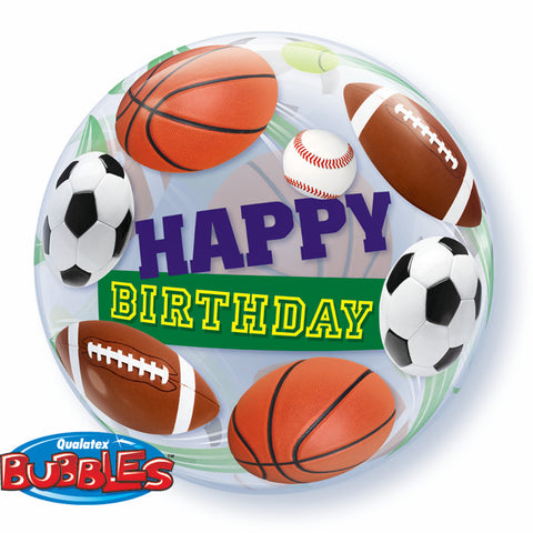 "22"" Single Bubble Birthday Sport Balls #34821 - Each"
