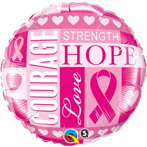 "18"" Round Foil Breast Cancer Inspirations #35119 - Each (Pkgd.)"