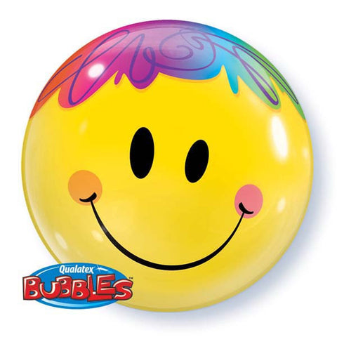 "22"" Single Bubble Bright Smile Face #35173 - Each"