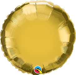 "04"" Round Metallic Gold Plain Foil #36337 - Each (Unpkgd.)"