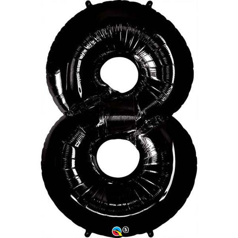 "42"" Number Foil Number Eight Onyx Black #36361 - Each (Pkgd.)"