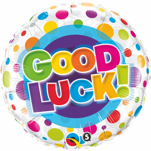 "18"" Round Foil Good Luck Colorful Dots #36387 - Each (Pkgd.)"
