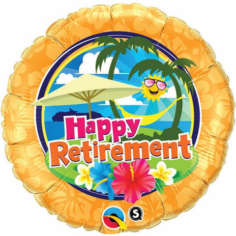 "18"" Round Foil Retirement Sunshine #36449 - Each (Pkgd.)"