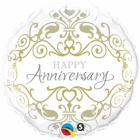 "18"" Round Foil Anniversary Classic #36491 - Each (Pkgd.)"