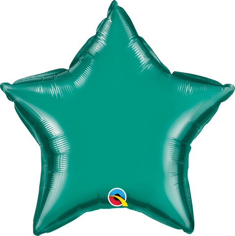 "20"" Star Teal Plain Foil #36576 - Each (Unpkgd.)"