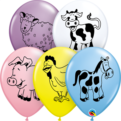 "11"" Round Special Assorted Farm Animal Assorted #37140 - Pack of 50"