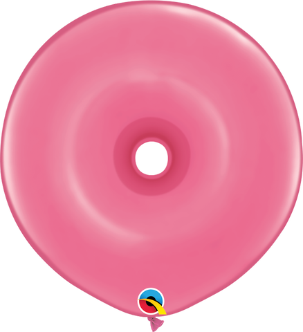 "16"" Donut Rose Qualatex Plain Latex Donut #37692 - Pack of 25"