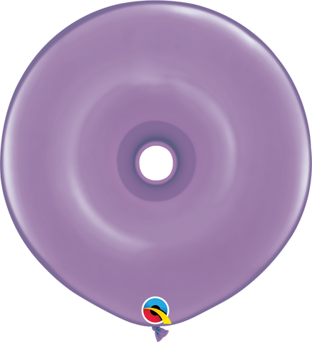 "16"" Donut Spring Lilac Qualatex Plain Latex Donut #37695 - Pack of 25"