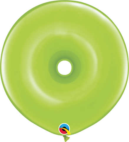 "16"" Donut Lime Green Qualatex Plain Latex Donut #37802 - Pack of 25"