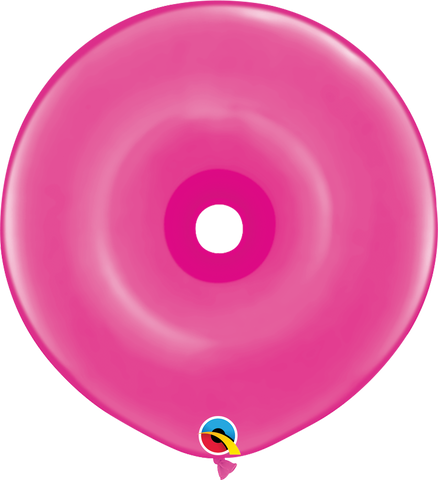 "16"" Donut Wild Berry Qualatex Plain Latex Donut #37803 - Pack of 25"