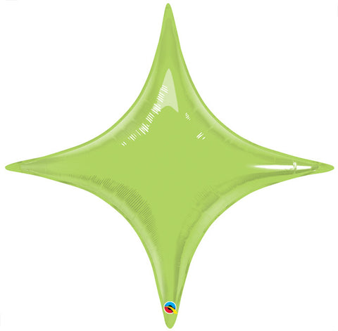 "20"" Shape Foil Starpoint Lime Green #39290 - Each (Unpkgd.)"