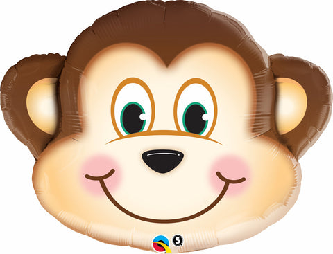 "35"" Shape Foil Mischievous Monkey SW #16097 - Each (pkgd.)"