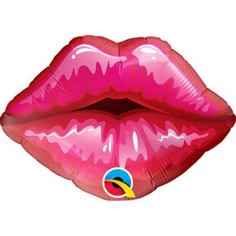 "14"" Shape Foil Red Kissey Lips #40213 - Each (Unpkgd.)"
