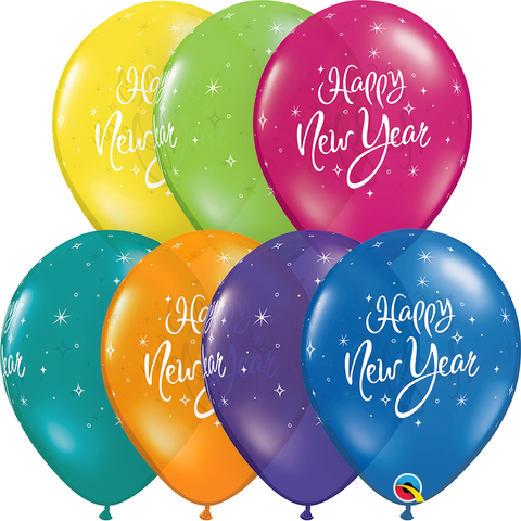 "11"" Round Fantasy Assorted New Year Sparkle #40566 - Pack of 50"